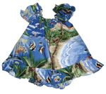 Tropical Fish Island Surf Girl's Puff Sleeve 2pc