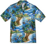 Tropical Fish Island Surf Men's Hawaiian Shirt