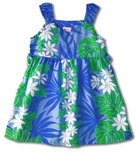 Tropical Floral Panel Side Tie Dress