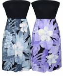 Tropical Flower knit top strapless sundress
