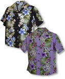 CLOSEOUT Tropical Flowers Panel Women's Shirt