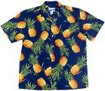 Tropical Gold Hawaiian Pineapple made in Hawaii Aloha Shirt