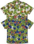 Island Parrots and Toucans Men's Shirt