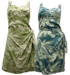 Tropical Jungle Elastic Back Sarong Dress