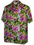 Tropical Jungle men's cotton aloha style Hawaiian shirt