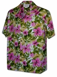 Hibiscus Jungle men's cotton shirt