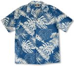 Tropical Leaf Garden men's soft peached cotton shirt