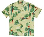 Tropical Parrots Men's Rayon aloha shirt
