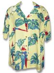 X-Small Tropical Parrots women's aloha shirt
