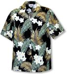 Tropical Plumeria Fern Leaf  Men's Shirt