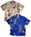 Tropical Polynesian Drinks men's Hawaiian aloha shirt