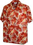 Tropical Rainfall Mens Cotton Hawaiian Shirt