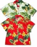 Tropical Summer Hibiscus Women's cotton aloha shirt