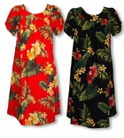 Tropical Summer Hibiscus Tea or ankle length MuuMuu