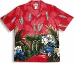 Tropical Surfboard Woodie Men's Shirt