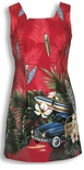 CLOSEOUT Tropical Surfboard Woodie Short Tank Dress