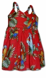 Tropical Toucan Parrots Girl's Bungee Dress