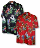 Tropical Toucan Parrots Men's Shirt
