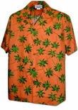 Tropical Trees Mens Cotton Shirt