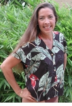 CLOSEOUT Trumpet Flower Aloha Blouse