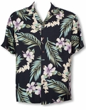 Tuberose men's rayon aloha shirt by Two Palms