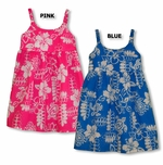 Turtle Flower Pond Girl's Small & Young Sizes Bungee Strap Cotton Dress