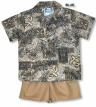 Turtle Hawaiian Heritage boy's 2pc set
