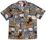 Tapa Turtle Paddle men's aloha shirt
