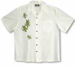 Honu Turtles Mens Cotton Aloha Shirt