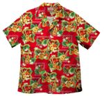 Ukulele Anthurium men's aloha shirt