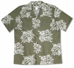 Ukulele Bouquet men's soft peached cotton shirt