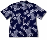 Ukulele (Pineapple) men's Hawaiian shirt
