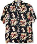 Ukulele Lei Panel Mens Hawaiian Shirt