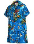 Underwater Views boy's tropical reef cotton cabana