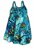 Underwater Views Girl's tropical ocean bungee strap dress