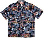 Undulating Island Trees Traditional Cotton Aloha Shirt