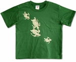 Honu (Turtles) cotton Kids Hawaiian T-Shirt