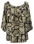 CLOSEOUT Up Down Staircase Womens Peasant Blouse