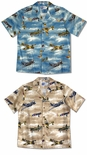Vintage Fighter Airplanes Men's 5X Hawaiian Aloha Shirt