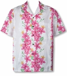 Vintage Plumeria Panel men's Hawaiian shirt