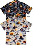 Hawaii Volcano Outriggers at Sea men's shirt