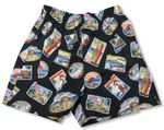 Waikiki Beach Uni-Sex Bamboo Boxer Cotton Shorts