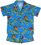 Waikiki Woody Surfboards boy's 2pc set