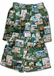 Waimea Hawaiian Cotton Bamboo Boxer Shorts