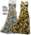 Watercolor Bird of Paradise women's button front dress