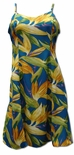 Watercolor Bird of Paradise women's empire princess dress