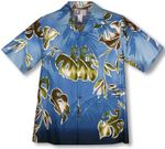 CLOSEOUT Watercolor Leaf men's shirt