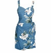 Watercolor Orchid Vintage Paradise Found Print - Hawaiian Sarong Dress