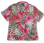 Watercolor Tropics womens RJC shirt