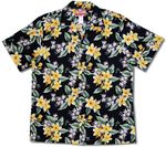 White and Yellow Plumeria men's tropical print aloha shirt